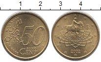 Изображение Монеты Италия 50 евроцентов 2002 Латунь UNC-