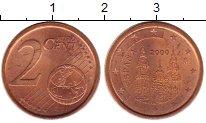 Изображение Монеты Испания 2 евроцента 2000 Бронза UNC-