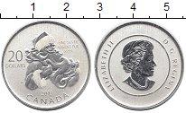 Изображение Монеты Канада 20 долларов 2013 Серебро Proof Санта-Клаус
