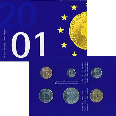 Изображение Подарочные монеты Нидерланды Набор 2001 года 2001  UNC Набор из шести монет