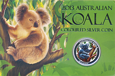 Изображение Подарочные монеты Австралия Коала 2013 Серебро Proof 1 доллар (серебро 99
