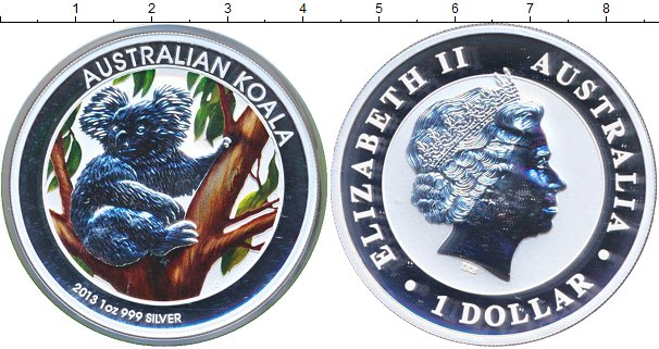 Картинка Подарочные монеты Австралия Коала Серебро 2013