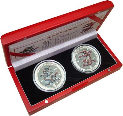 Изображение Подарочные монеты Палау Год дракона 2012 Серебро Proof