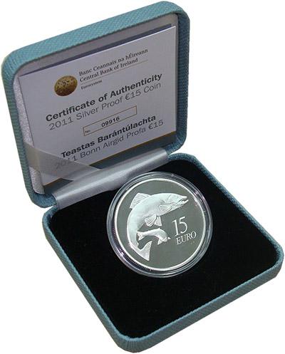 Изображение Подарочные монеты Ирландия Лосось 2011 Серебро Proof `Монета номиналом 15