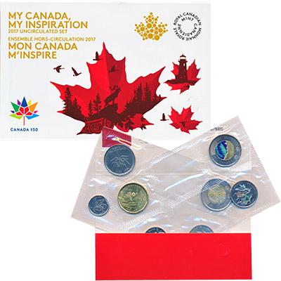 Изображение Подарочные монеты Канада 150 лет Канаде 2017  UNC Набор из восьми памя