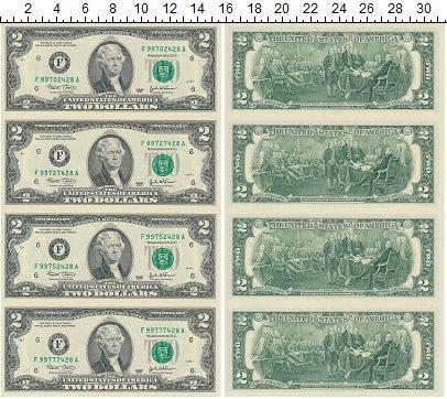 Изображение Банкноты США США 2003 2003  UNC- Набор состоит из 4 б