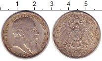 Изображение Монеты Баден 2 марки 1907 Серебро XF+