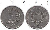 Изображение Монеты Албания 5 лек 2000 Медно-никель XF Герб