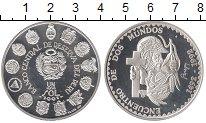 Изображение Монеты Перу 1 соль 1991 Серебро Proof- 500 - летие  открыти