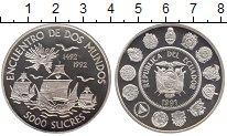Изображение Монеты Эквадор 5000 сукре 1991 Серебро Proof-
