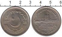 Изображение Монеты Пакистан 25 рупий 2014 Медно-никель UNC- 50 - летие  Подводно