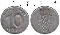 Изображение Монеты ГДР 10 пфеннигов 1949 Алюминий XF-