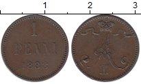 Изображение Монеты 1881 – 1894 Александр III 1 пенни 1888 Медь XF+