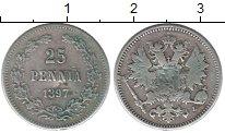 Изображение Монеты 1894 – 1917 Николай II 25 пенни 1897 Серебро XF-