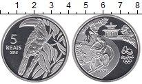 Изображение Монеты Бразилия 5 реалов 2015 Серебро Proof