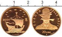 Изображение Монеты Италия 20 евро 2004 Золото Proof-
