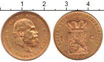 Изображение Монеты Нидерланды 10 гульденов 1879 Золото UNC- Виллем III (КМ# 106