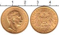 Изображение Монеты Пруссия 20 марок 1909 Золото UNC