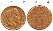 Изображение Монеты Франция 20 франков 1863 Золото XF Наполеон III (КМ# 80