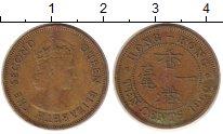 Изображение Монеты Гонконг 10 центов 1960 Медь XF