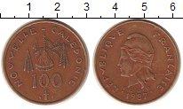 Изображение Монеты Полинезия 100 франков 1987 Латунь XF