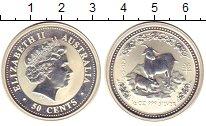 Изображение Монеты Австралия 50 центов 2003 Серебро Proof- Елизавета II.  Год