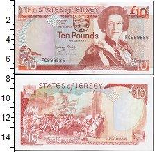 Изображение Боны Остров Джерси 10 фунтов 2005  UNC-
