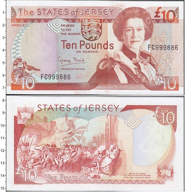 Картинка Боны Остров Джерси 10 фунтов  2005