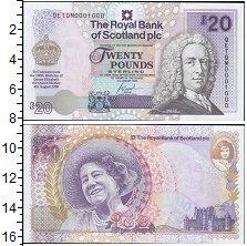 Изображение Банкноты Шотландия 20 фунтов 2000  UNC- 100 лет королеве-мат