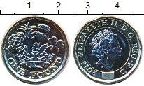 Изображение Мелочь Великобритания 1 фунт 2016 Биметалл UNC Елизавета II.  Новый