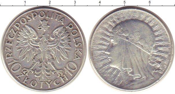 Купить 10 злотых 1932 года 10 рублей липецкая область 2007