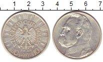 Изображение Монеты Польша 10 злотых 1936 Серебро XF Юзеф  Пилсудский