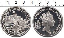 Изображение Монеты Гернси 2 фунта 1995 Серебро Proof-