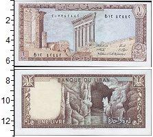 Изображение Банкноты Ливан 1 ливр 1980  UNC-