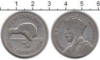 Изображение Монеты Новая Зеландия 1 флорин 1934 Серебро VF