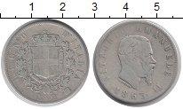 Изображение Монеты Италия 2 лиры 1863 Серебро VF Витторио Эмануил II