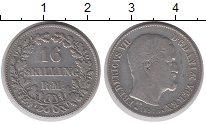 Изображение Монеты Дания 16 скиллингов 1857 Серебро VF Фредерик VII