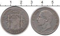 Изображение Монеты Испания 2 песеты 1882 Серебро VF