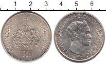 Изображение Монеты Люксембург 100 франков 1963 Серебро UNC Шарлотта