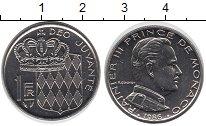 Изображение Монеты Монако 1 франк 1986 Медно-никель UNC