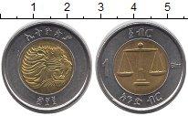 Изображение Монеты Эфиопия 1 бирр 2010 Биметалл UNC- Весы
