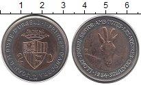 Изображение Монеты Андорра 2 динера 1984 Биметалл UNC