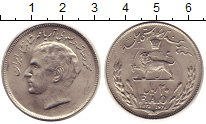 Изображение Монеты Иран 20 риалов 1976 Медно-никель UNC