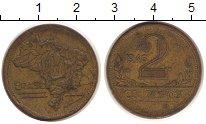 Изображение Монеты Бразилия 2 крузейро 1946 Латунь XF