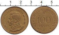 Изображение Монеты Аргентина 100 песо 1979 Латунь XF