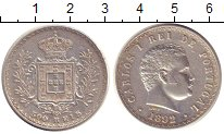 Изображение Монеты Португалия 500 рейс 1892 Серебро XF Карлос I