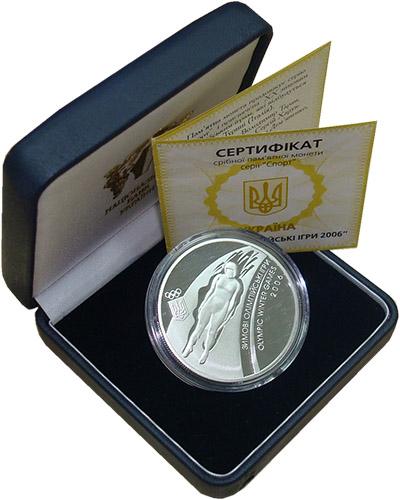 Изображение Подарочные монеты Украина 10 гривен 2006 Серебро Proof- Зимние Олимпийские и
