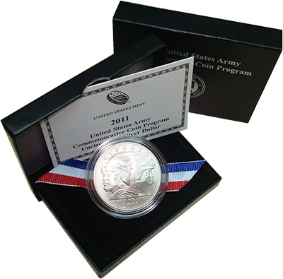 Изображение Подарочные наборы США Памятный пруф-доллар 2011 Серебро UNC