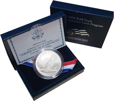 Изображение Подарочные наборы США Лысый Орел 2008 Серебро UNC Подарочный набор пос