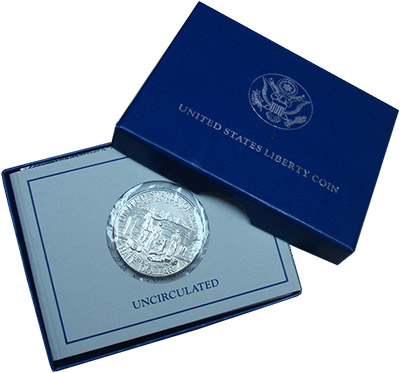 Изображение Подарочные наборы США 1/2 доллара 1986 Медно-никель UNC 100 - летие  Статуи